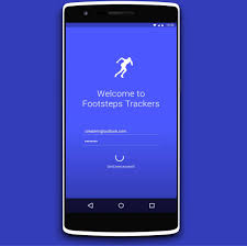 pedometer app for android footsteps tracker pedometer app concept android