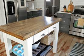 kitchen island with wood top diy kitchen island from new unfinished furniture to antique for