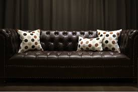 Brown Sofa Throw Polka Dots Throw Pillows For Brown Leather Couch Beige Decorative