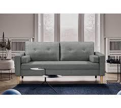 but promo canapé canapé 3 places rizzo tissu gris clair canapés but