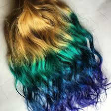teal hair extensions 18 inch rainbow ombre teal green blue purple clip in 100