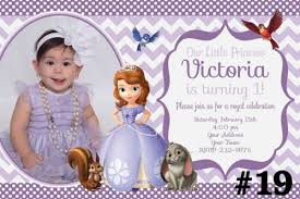 sophia the first birthday invitations sofia the first birthday