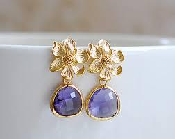 purple drop earrings purple drop earrings etsy