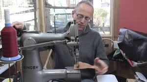singer 133k huge harness makers leather sewing machine youtube