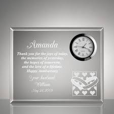 anniversary clock gifts and wedding rings anniversary clock