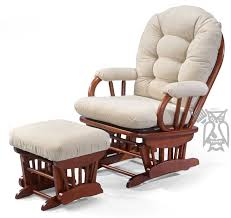 glider rocker with ottoman amish leola mission swivel glider rocking chair in glider rocker and