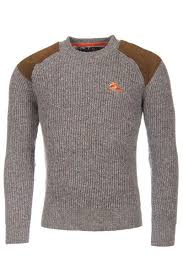 shooting sweater mens rydale chunky crew neck shooting sweater