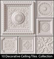 ceiling tiles 10 decorative ceiling tile collection classical 3d model