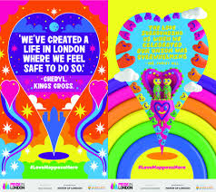 paint the town rainbow lgbt posters fill the capital as part of