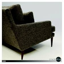 mobital essex sofa in grey tweed walnut wood natural stained legs