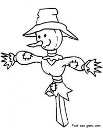 printable thanksgiving scarecrow coloring printable