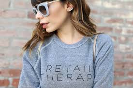 retail therapy sweatshirt stilettobeats