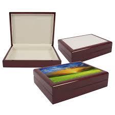 Personalised Keepsake Box Vintage Wooden Gift Box Insert Ceramic Tile For Sublimation