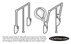 versa lift max wardrobe lifts u0026 pull down rods closetbay