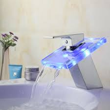Robinet Copper Led Mixed Cold And Hot Water Temperature Control Bathroom Fixtures Manufacturers