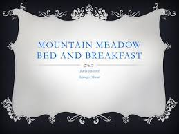 Mountain Meadows Bed Breakfast Arban Myranel J Dela Vega Ruth T Gama Jaymeelyn B Velasquez