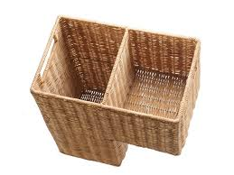 amazon com kouboo wicker step basket natural home improvement