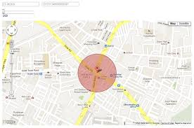 draw a radius on a map draw cirlce around marker in map codeproject
