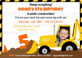 dreaded construction birthday party invitations which is currently