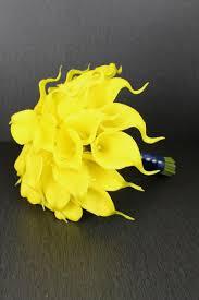 yellow calla bright yellow calla brides bouquet detail wedding design