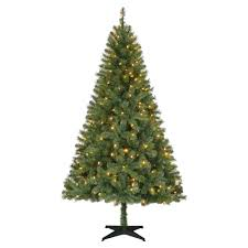 home accents 6 5 ft pre lit led greenville spruce