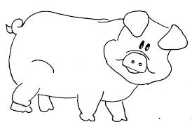 outline of pig clipart clipartxtras