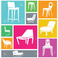 Design Chairs Furniture Background Interior Design Chairs Set Royalty Free