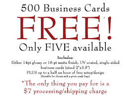 Free Business Cards Printing 500 Free Business Cards Mail U0026 Business Shipping U0026 Printing
