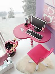 Purple Computer Desk by Pink Girl Bedroom Decorating Ideas Hot Pink Paint Cabinet Beside