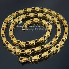aliexpress buy fashion big size 18k gold plated men 18k gold plated big heavy chain necklace 316l stainless steel