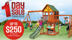 Backyard Swing Sets Canada Sears Canada One Day Online Sale Up To 250 Off Wooden Swingsets