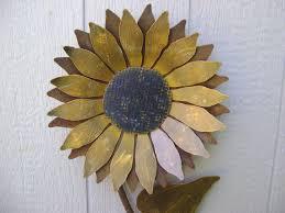 metal flower garden stakes sunflower metal garden art sunflower wall art rusty metal