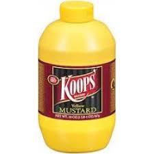 koops mustard koops yellow salad mustard 24 oz pack of 12 lou s foods