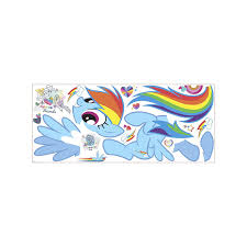 roommates rainbow dash peel and stick giant wall decals amazon com