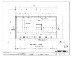 basement floor structural plan amoureaux house house plans 19552