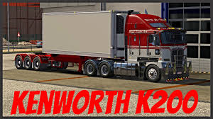 kenworth truck specs euro truck simulator 2 kenworth k200 youtube