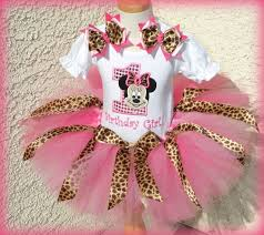 girls minnie mouse pink sequin number and leopard quick ship tutu set