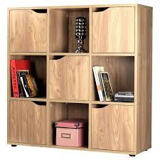storage cube shelves oak effect wooden storage unit shelf 9 cube 5 door
