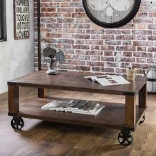 Industrial Rustic Coffee Table Industrial Rustic Coffee Table Pk Home With Wheels Thippo
