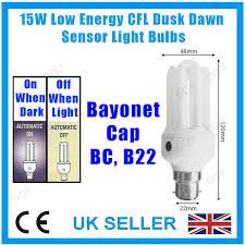 light bulbs with sensors low energy 15w low energy cfl dusk to dawn sensor photocell light bulb bc b22