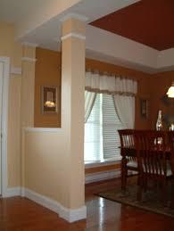 decorative column with half wall entrance decorative