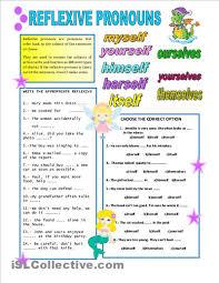 reflexive pronouns pronoun worksheets worksheets and 2nd grades