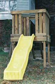 plans for building a platform for a diy slide diy toys
