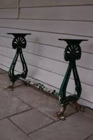 cast iron table bases for sale garden table with heavy antique cast iron legs and a reclaimed pine