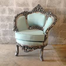 Kissing Chairs Antiques Antique Blue Chair Italian Venetian 1 Available Bergere