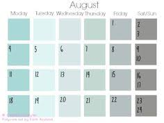 diy calendar using paint shade pallettes free from the store