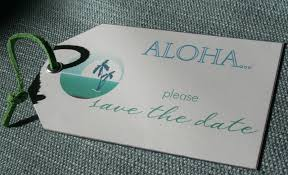 save the date luggage tags save the date luggage tags hawaiian style paper and thread