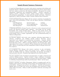 Resume Summary Statement Samples by Results Oriented Resume Statements Free Resume Example And