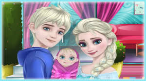 frozen princess elsa baby room decoration video game for little