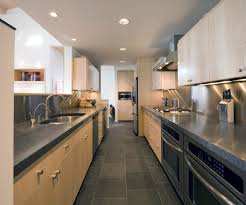 slate tile flooring kitchen transitional with high gloss subway